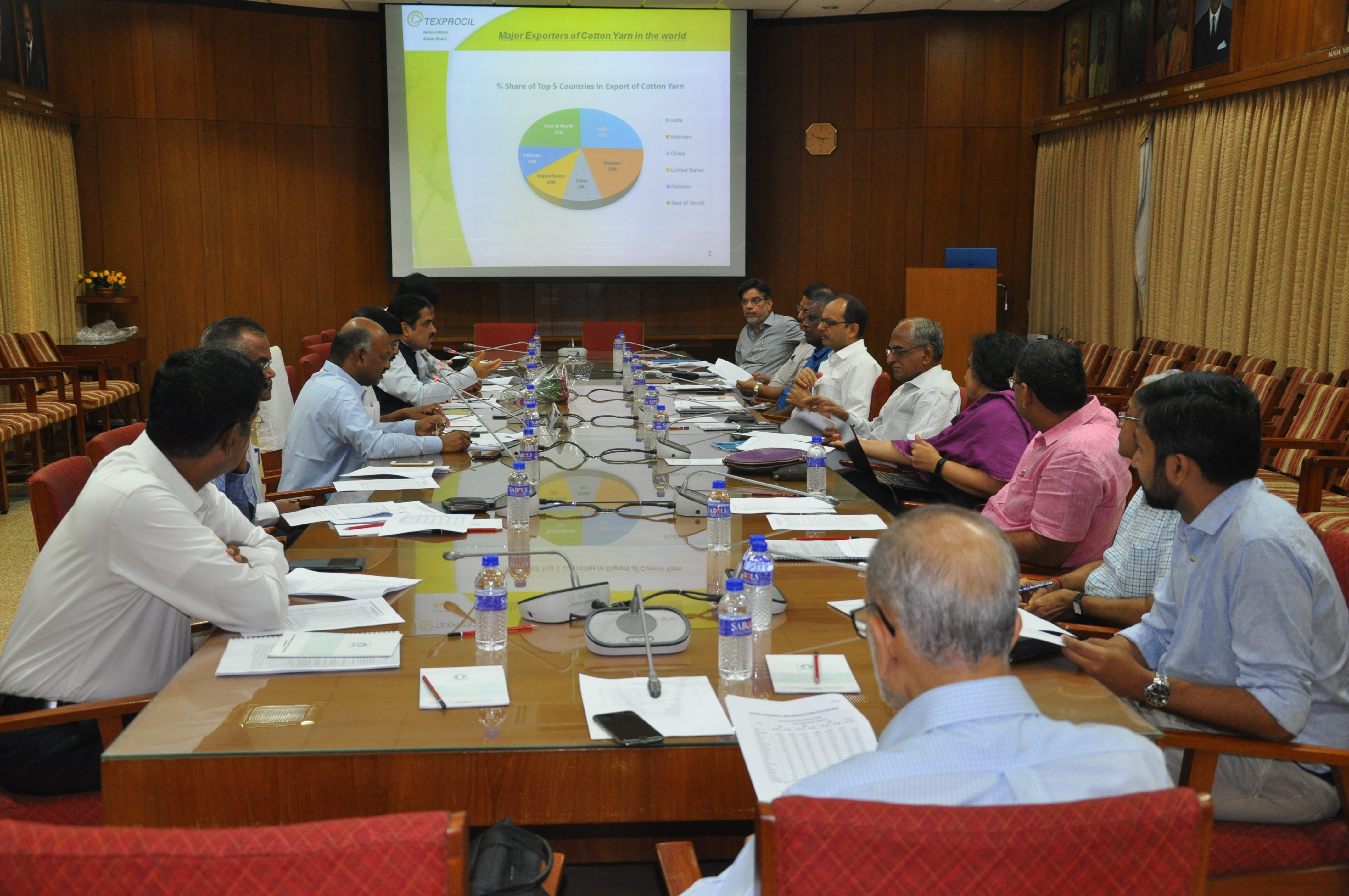 TEXPROCIL held its Yarn Committee Meeting at SIMA, Coimbatore on 20th June 2018 to discuss present market conditions and strategies to increase yarn exports