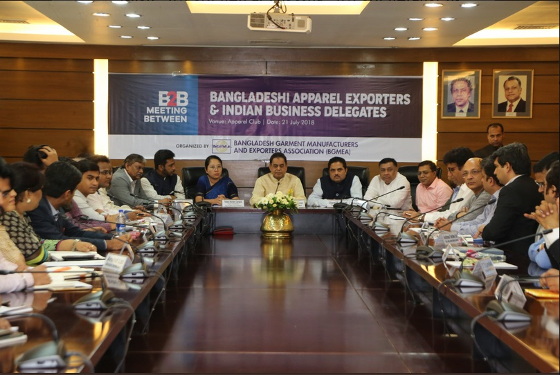 Interactive meet between members of Bangladesh Garment Manufacturers & Exporters Association BGMEA & members of TEXPROCIL delegation on 21st July 2018