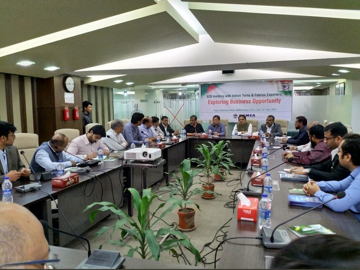 Interactive meet between members of Bangladesh Knitwear Manufacturers & Exporters Association (BKMEA) & members of TEXPROCIL delegation on 22nd July 2018