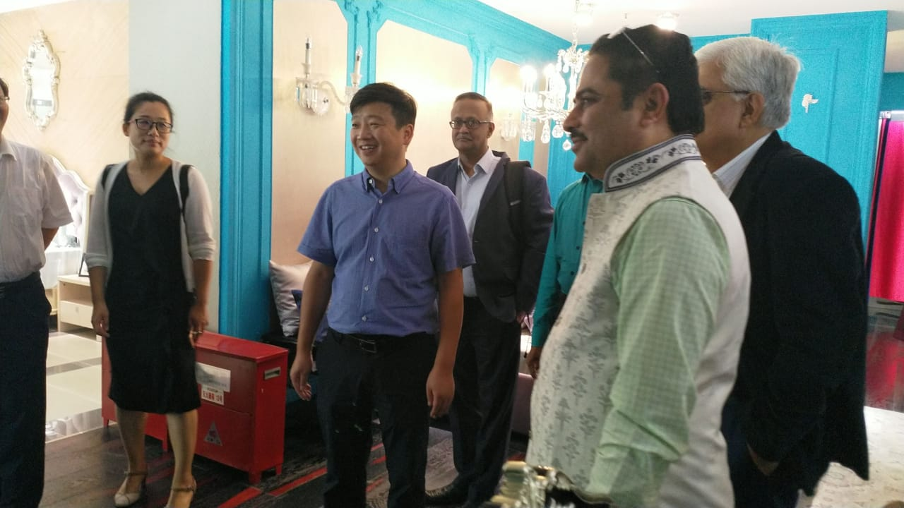 TEXPROCIL trade delegation visits Gold Sun Textiles and meets with Mr Yuan Hong Xing , GM and discusses possibility of their sourcing fabrics from India and also cooperation in Designing concepts.