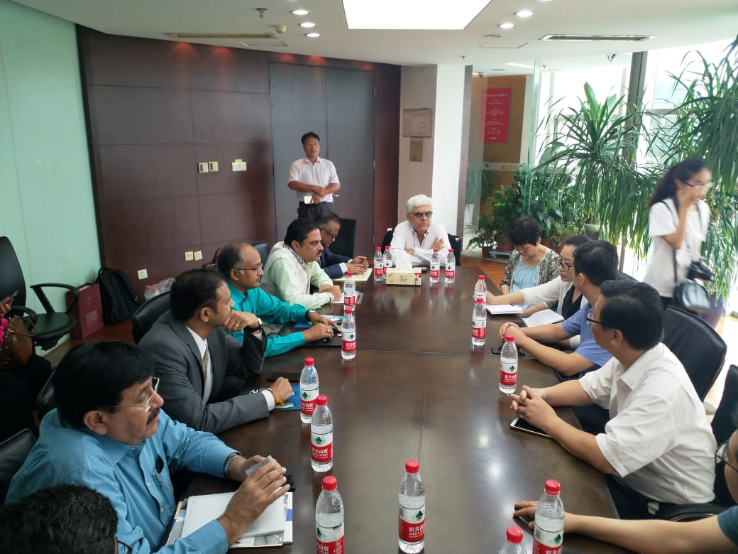 TEXPROCIL delegation at Businesses meeting at Gold Sun Home Textile Company, Nantong, China.