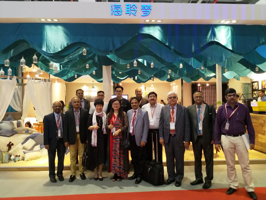 TEXPROCIL delegation at InterTextile Home Fair, Shanghai on 27th August 2018.