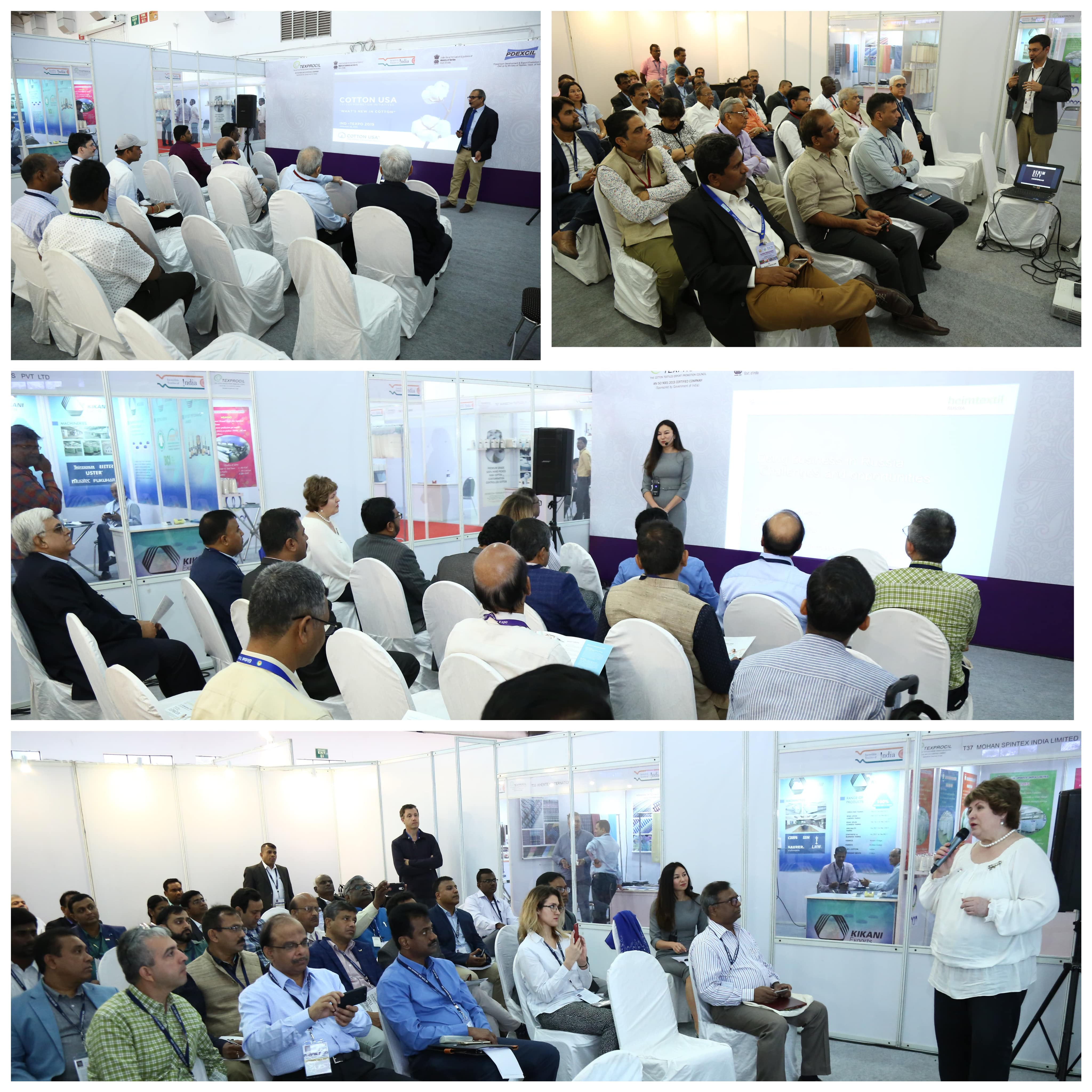 Seminars & Workshops conducted at IND-TEXPO 2019