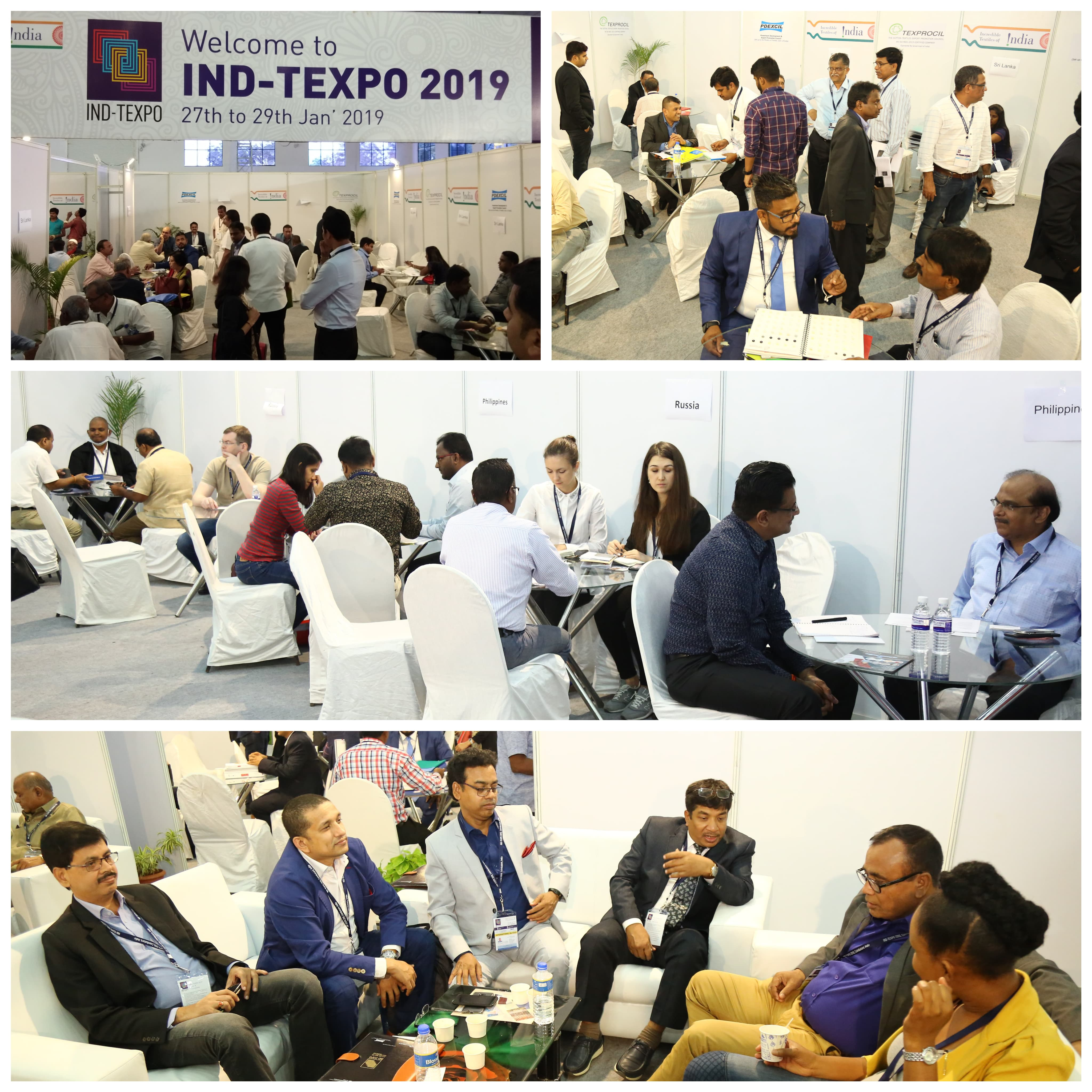 B2B Meetings conducted at IND-TEXPO 2019