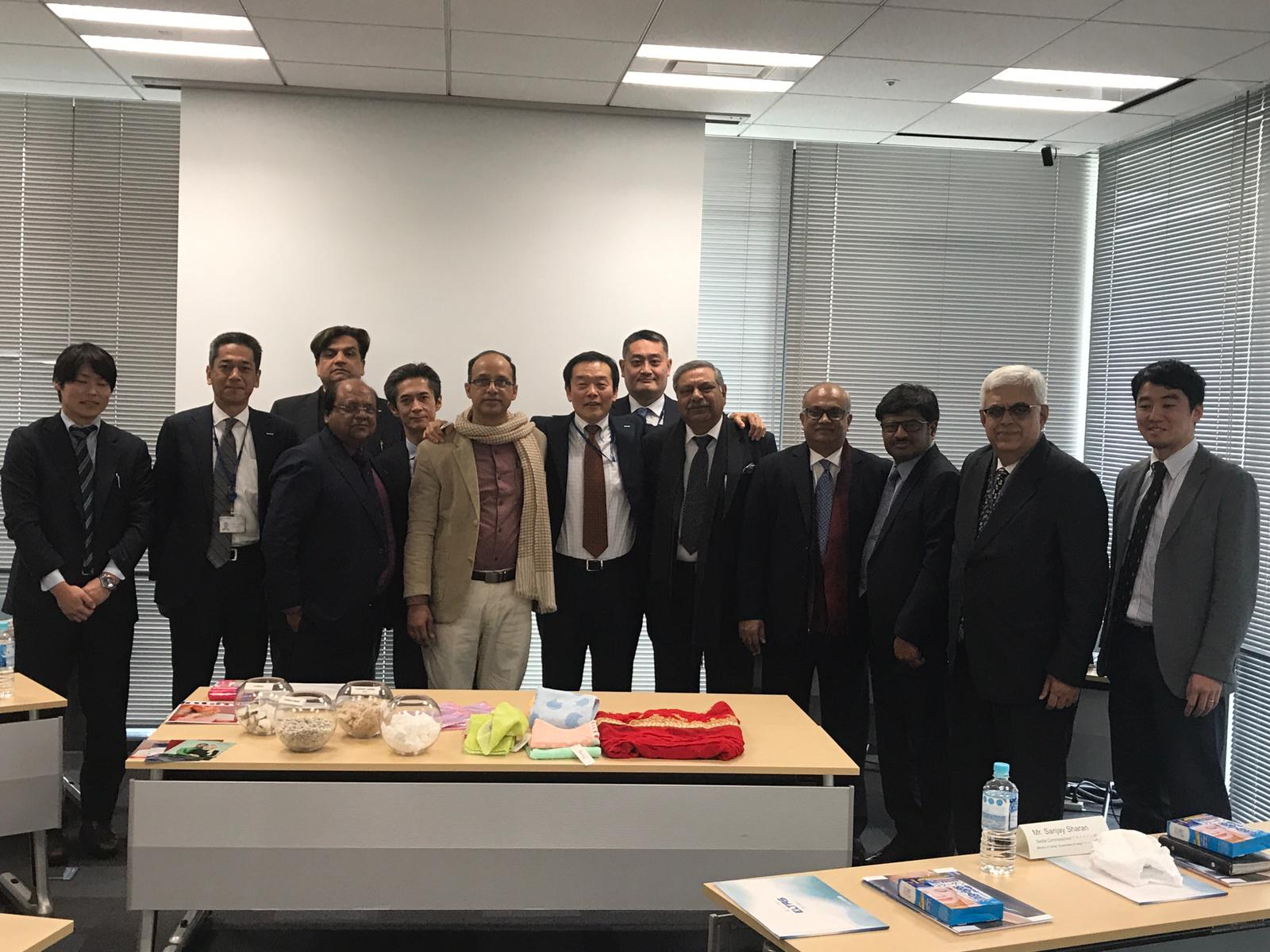 The Indian Delegation in a meeting with Representatives of Asahi Kasei, OSAKA, Japan