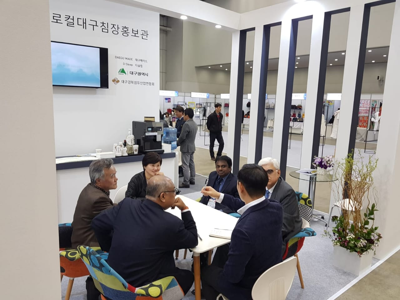Meeting at TEXPROCIL Booth in PREVIEW IN DAEGU 2019 in South Korea