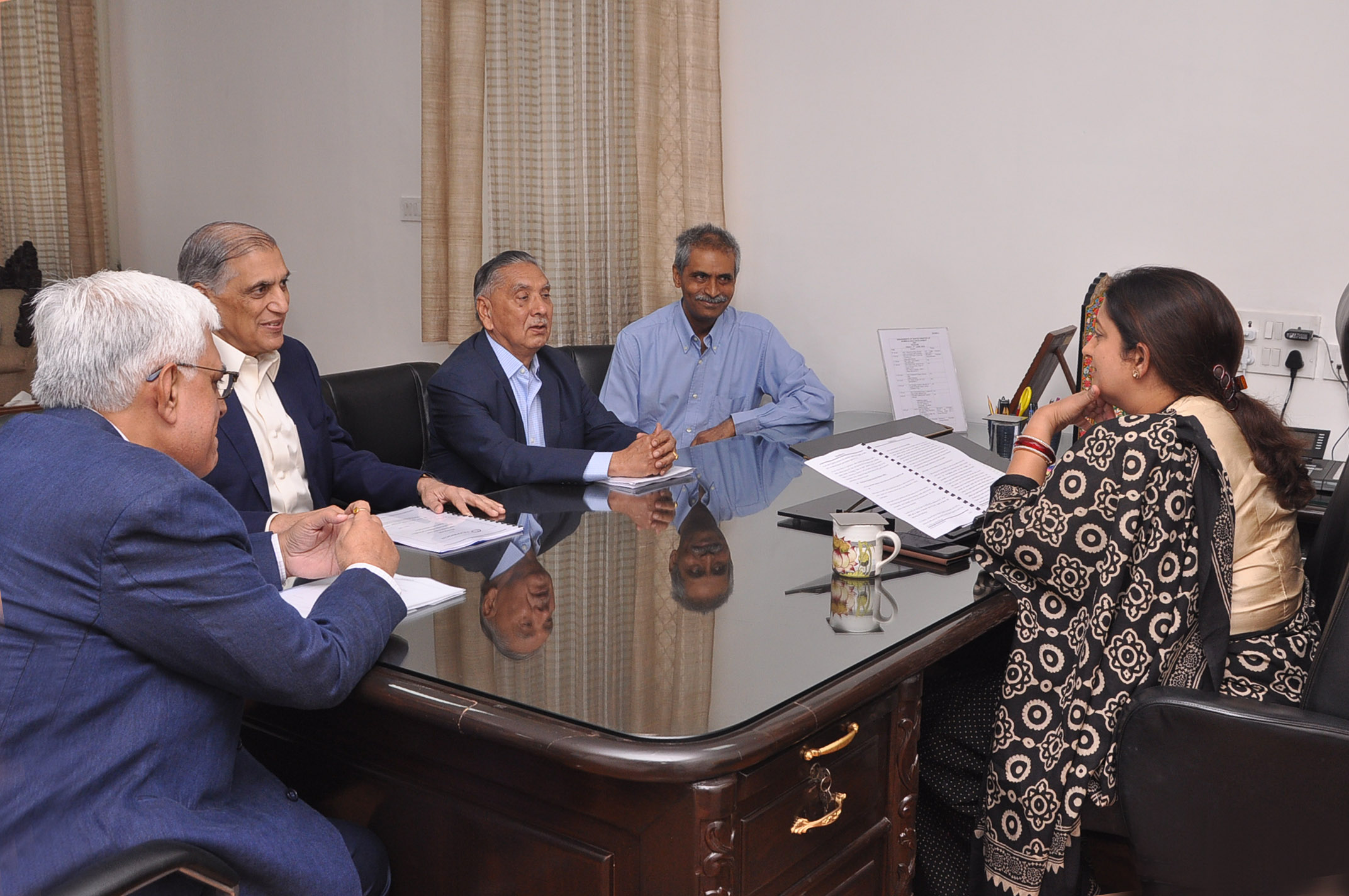 TEXPROCIL Delegation meets Hon'ble Minister of Textiles at her office in New Delhi on June 7, 2019.