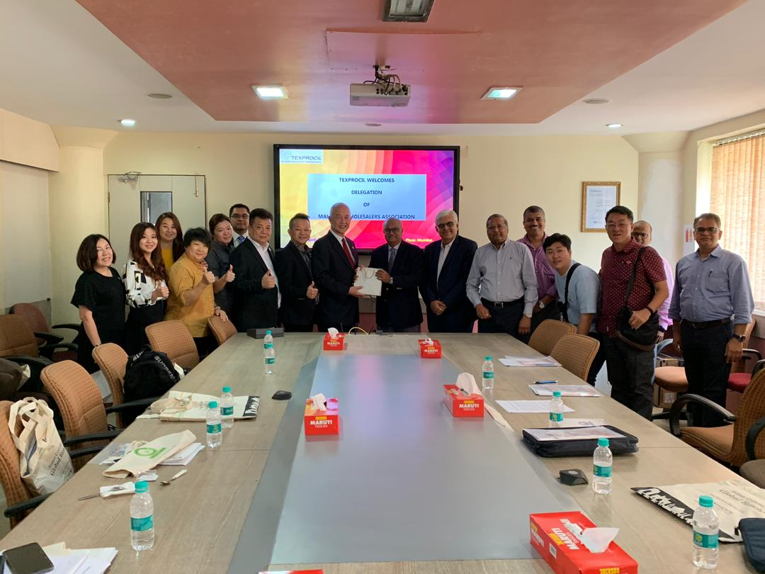 TEXPROCIL welcomed an 18 member delegation from the Malaysia Wholesalers Association at the Council's H.O. in Mumbai on 22.08.2019.