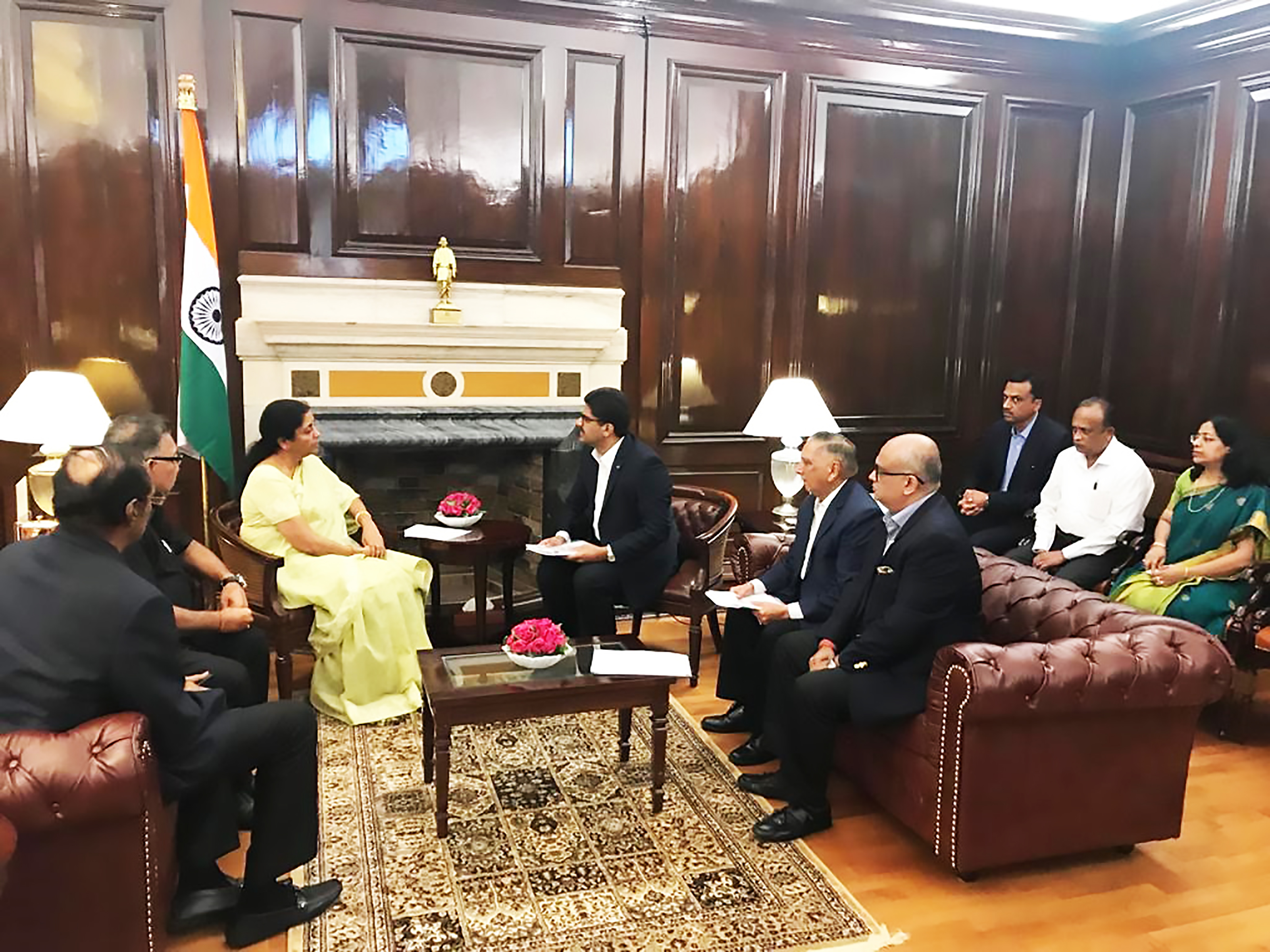 Delegation from TEXPROCIL and CITI in a meeting with the Hon'ble Finance Minister Smt. Nirmala Sitharaman in New Delhi on 18th Sept. 2019
