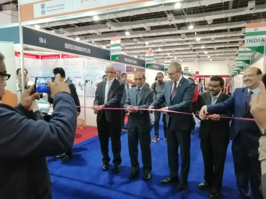 India's Ambassador to Egypt H.E Shri Rahul Kulshreshth inaugurated the Indian pavilion along with Shri Nihar Ranjan Dash, Joint Secretary, Ministry of Textiles at the 65th Cairo Fashion and Tex Fair in Cairo International Convention Centre