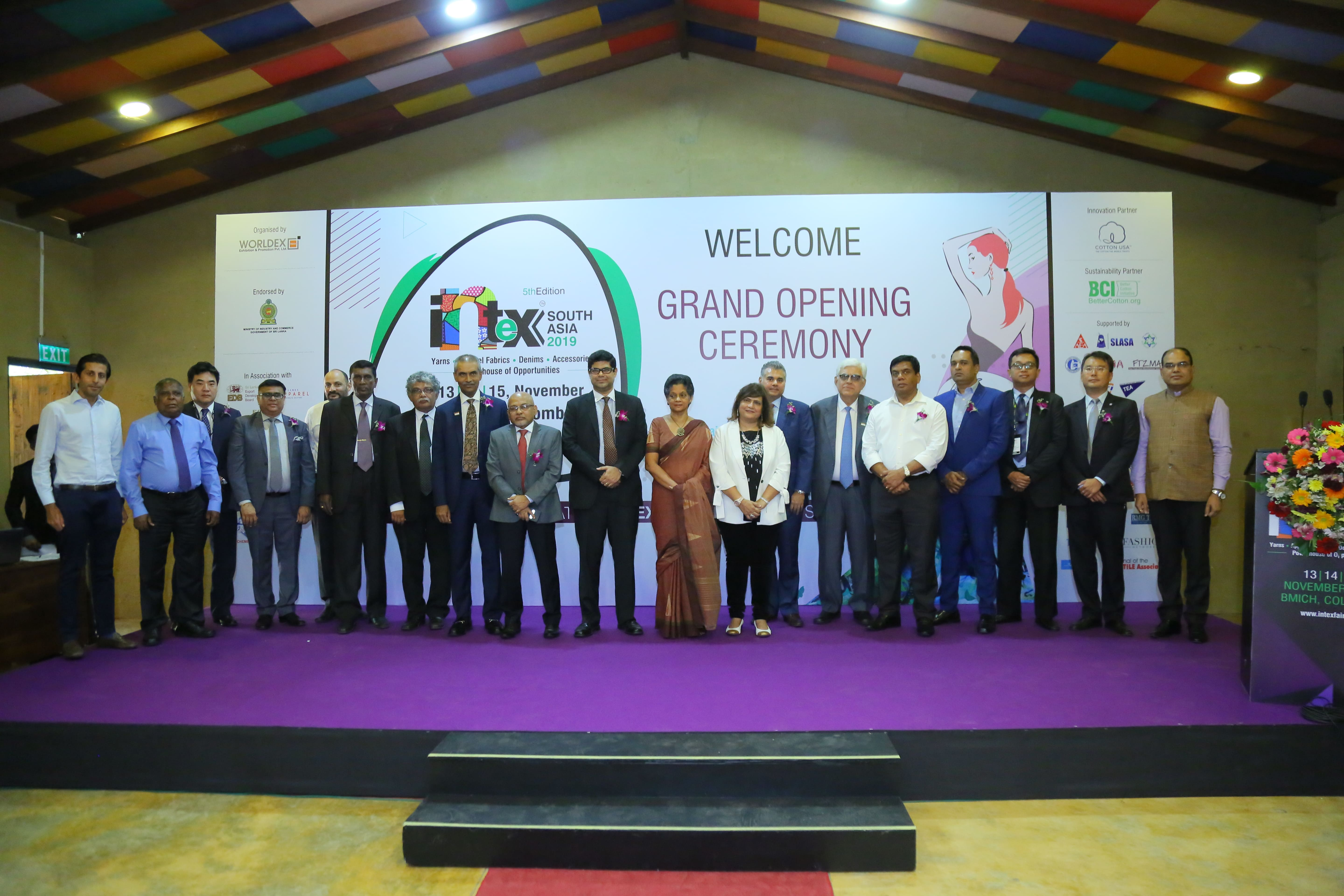 TEXPROCIL @ Grand Opening Ceremony of Intex South Asia on 13th November, 2019 at BMICH, Colombo, Sri Lanka