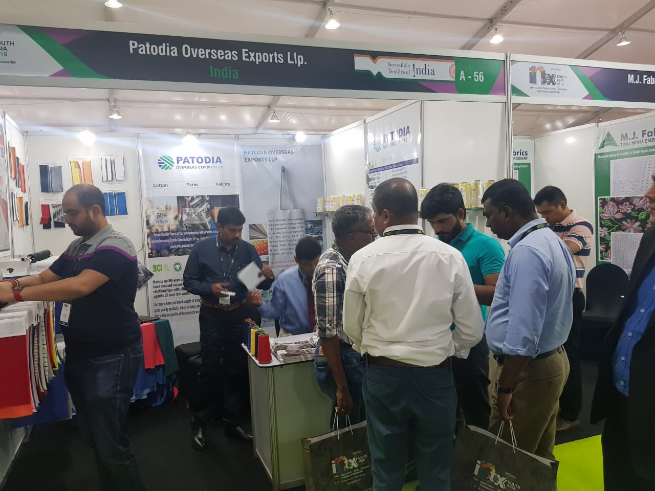 India Pavilion setup by TEXPROCIL @ Intex South Asia held between 13-15 November 2019, Colombo, Sri Lanka