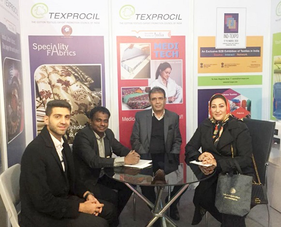 The Council's booth at IRANTEX 2019 was visited by a large number of buyers who were interested in sourcing textiles products from India