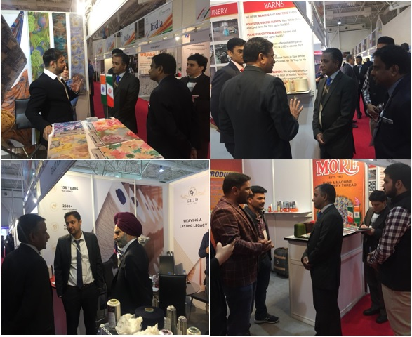 Shri Vinay Kumar, Consul (Commercial) from the Indian Embassy in Tehran visited the Indian Pavilion and met the exhibiting companies at IRANTEX 2019