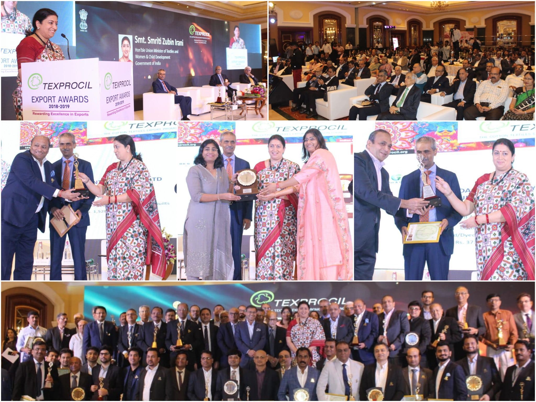 TEXPROCIL presents Awards for Export Excellence 2018-19