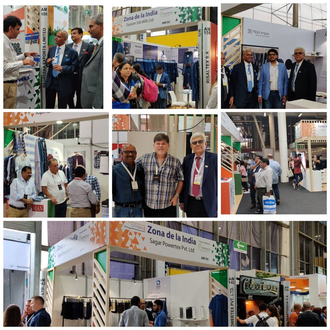 TEXPROCIL organises India Pavilion at ColombiaTex held at Medellin city from 21 to 23 January 2020