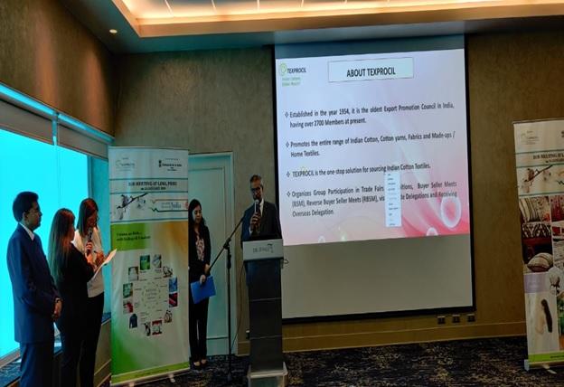 Dr K. V. Srinivasan, Chairman TEXPROCIL  welcomes all the participants at Lima, Peru