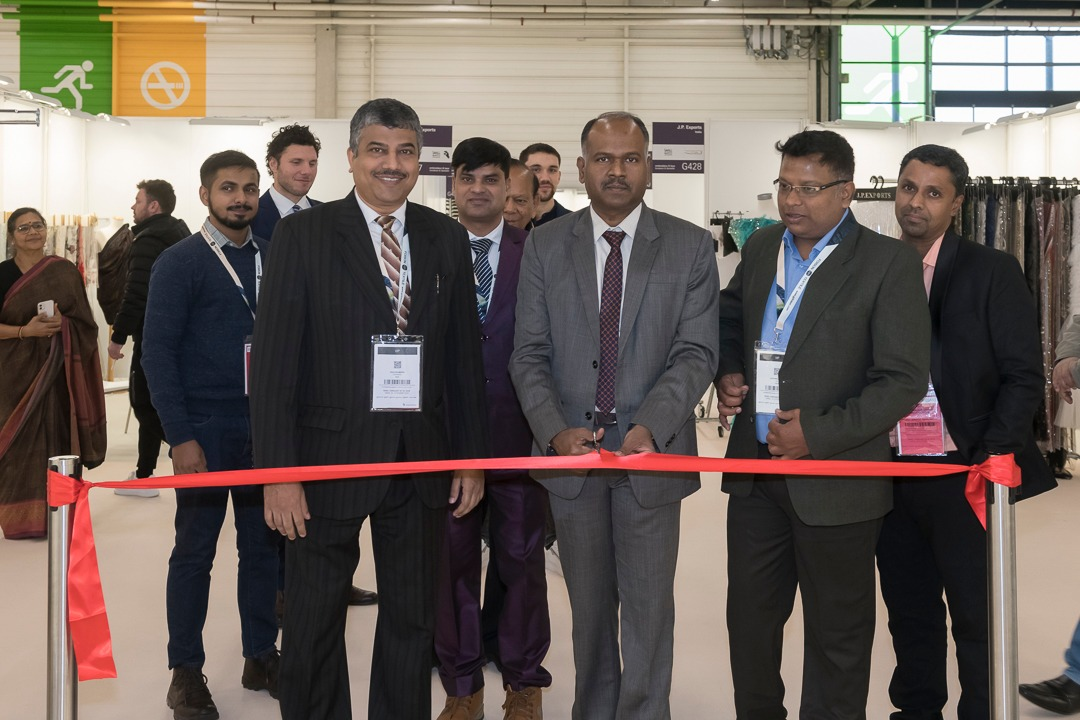 Mr. Premanand Jothy First Secretary (ITOU/E&C)& Head of Economic and Commercial Wing, Embassy of India in Paris, inaugurating the India pavilion at Texworld and Apparel Sourcing Fair being held in Paris from 10 to 13 February 2020