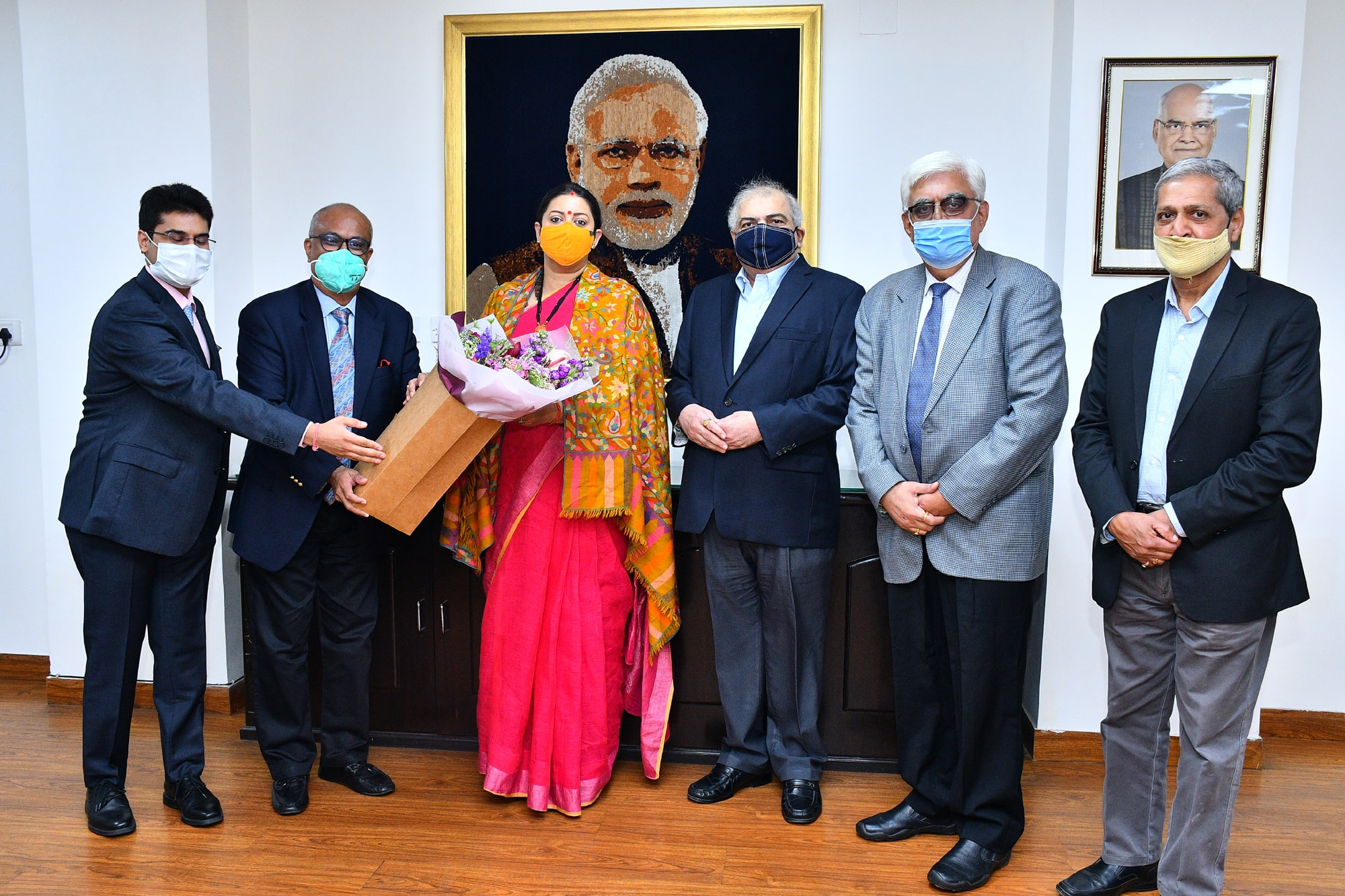 TEXPROCIL Delegation meets Hon'ble Minister of Textiles at her office in New Delhi on Feb 9, 2021