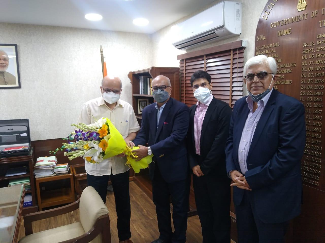 TEXPROCIL in a Meeting with Commerce Secretary Shri B.V.R Subrahmanyam on 28th July 2021 in New Delhi
